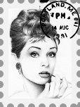 Audrey Hepburn Briefmarke mit Gimp erstellt
