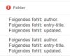 Google-Fehlermeldung für die hentry Einträge