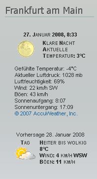 wp-forecast simple widget